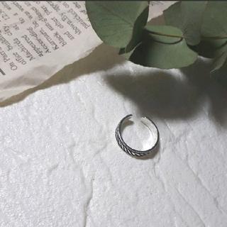 ザラ(ZARA)のトライバル〰シルバー925リング 調節可能(リング(指輪))