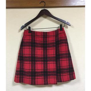 ローリーズファーム(LOWRYS FARM)のローリーズファーム チェックスカート 赤(ミニスカート)