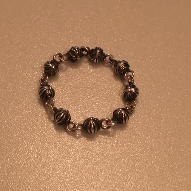 Chrome Hearts(クロムハーツ)のまろん様専用 クロムハーツ タイニーピラミッドリング ビーズ リング  メンズのアクセサリー(リング(指輪))の商品写真