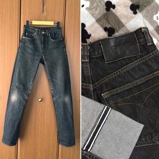 フラワー(flower)の希少 90'sCalvinKlein Jeans BLK セルビッジデニムパンツ(デニム/ジーンズ)