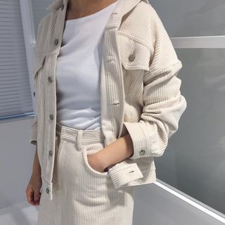 イエナ(IENA)のIENA 太コールBIGブルゾン(Gジャン/デニムジャケット)