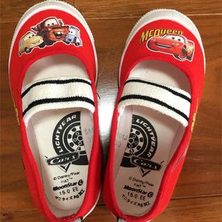 ディズニー(Disney)のカーズ 上履き 15cm 赤 ディズニー(スクールシューズ/上履き)