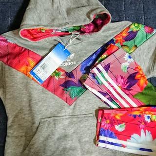 アディダス(adidas)の日本未入荷 【新品】花柄 パーカー&レギンス セット ベビー(トレーナー)