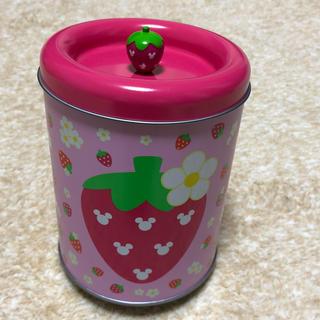 ディズニー(Disney)のいちごのミッキー空き缶(容器)