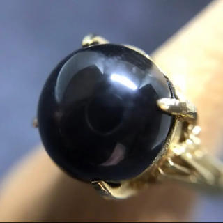 天然ブラックスターダイオプサイト(リング(指輪))