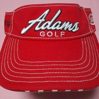 アダムスゴルフ(Adams Golf)の美品! テーラーメイド製 アダムスゴルフ バイザーキャップ 赤(その他)