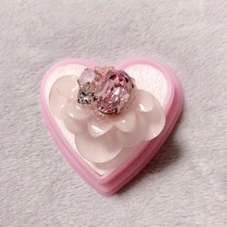 カンナビス レディース(CANNABIS LADIES)のMu-Mu phantomflower crystal リング ピンク(リング(指輪))