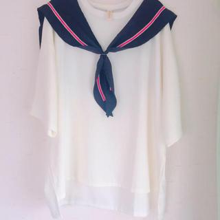 クレイミー(Crayme,)のセーラーカラーTシャツ(Tシャツ(半袖/袖なし))