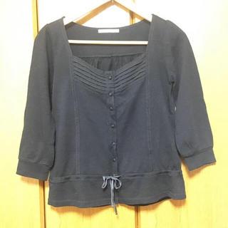 イッカ(ikka)の七分袖カットソー 黒(カットソー(長袖/七分))