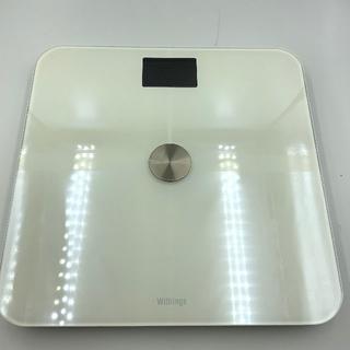 美品 withings ウィジングス WS-50 ホワイト スマート体重計 白(体脂肪計)
