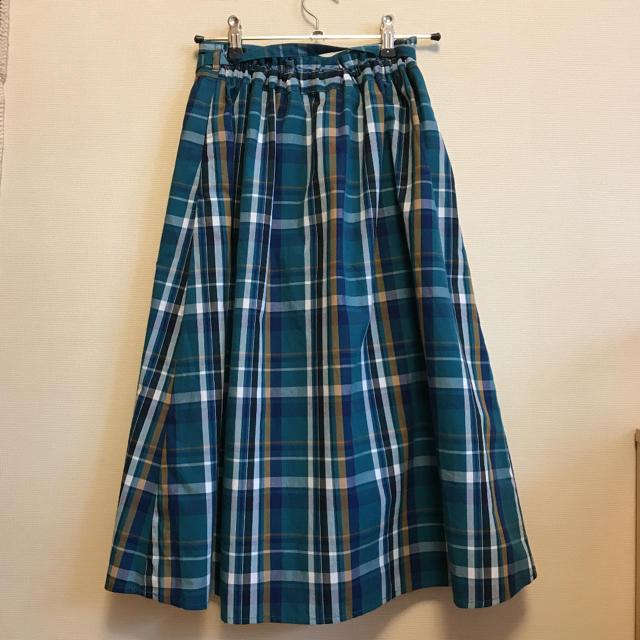 GU(ジーユー)のGUのチェックロングスカート  150 キッズ/ベビー/マタニティのキッズ服 女の子用(90cm~)(スカート)の商品写真