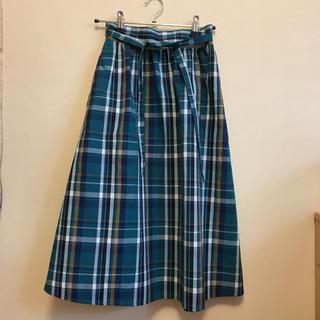 ジーユー(GU)のGUのチェックロングスカート  150(スカート)