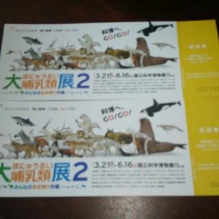 大哺乳類展2■ペアチケット(美術館/博物館)