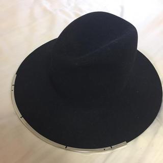 ドゥーズィエムクラス(DEUXIEME CLASSE)のジャネッサレオン 帽子 黒(ハット)