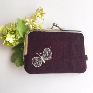 ミナペルホネン(mina perhonen)のがまぐち カードケース 横 choucho (財布)