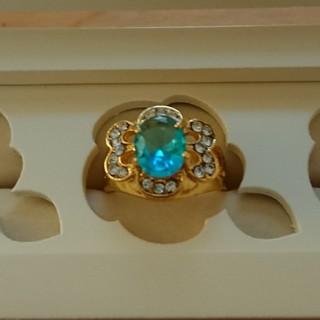 指輪 ブルートパーズ風  海外製 (リング(指輪))