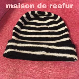 メゾンドリーファー(Maison de Reefur)のメゾンドリーファー カシミヤニット帽 ♡♡定価10260円!(ニット帽/ビーニー)