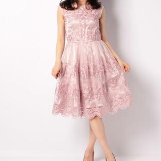 レッセパッセ(LAISSE PASSE)のLAISSE PASSE 結婚式 ドレス 総刺繍ワンピ 値下げ交渉OK(ミディアムドレス)