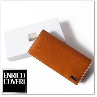 エンリココベリ(ENRICO COVERI)の新品 エンリココベリ 牛革 クロコ型押しレザー  二つ折り長財布(財布)