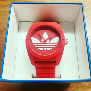 アディダス(adidas)のアディダス時計 adidas 腕時計 サンディアゴ 赤(腕時計(アナログ))