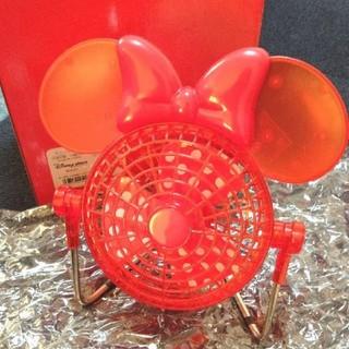 ディズニー(Disney)のミニーちゃん ミニ扇風機(扇風機)