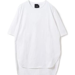 デミルクスビームス(Demi-Luxe BEAMS)のATON ラウンドヘムシャツ 半袖 白(Tシャツ(半袖/袖なし))