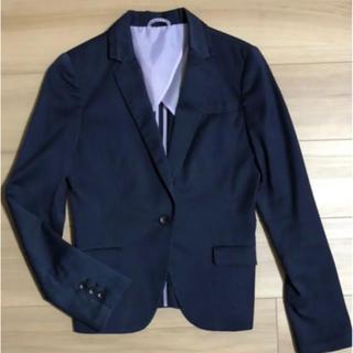 セレクト(SELECT)のジャケット スーツセレクト 7号 ストライプ  ネイビー 紺(スーツ)