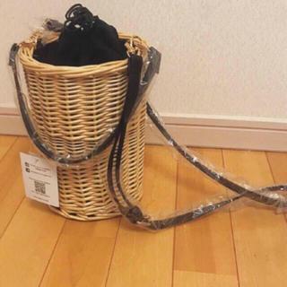 ザラ(ZARA)の2wayカゴバッグ バケツバッグ 定価4860 ショルダーバッグ(かごバッグ/ストローバッグ)