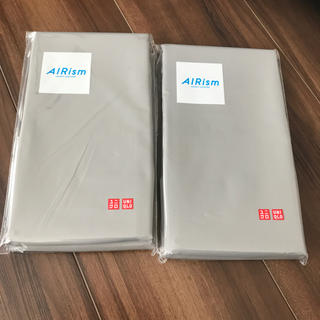 ユニクロ(UNIQLO)の新品未使用・エアリズム・ユニクロ・マクラカバー2個セット・63×43cm(シーツ/カバー)