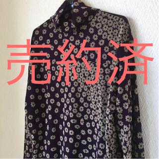 ドナ(Donna)の透け感 花柄 カットソー(カットソー(長袖/七分))