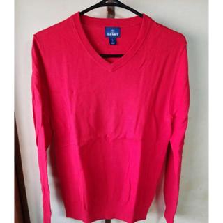 美品 春色 ニット セーター ピンクと赤の中間色 XSサイズ