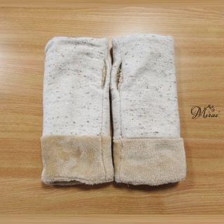 WINTER SALE グレーツィードハンドウォーマー M n-0102(手袋)