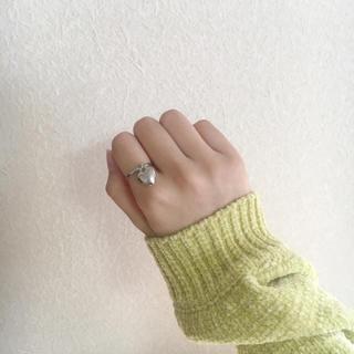 カスタネ(Kastane)のシルバーハート リング 指輪 ①(リング)