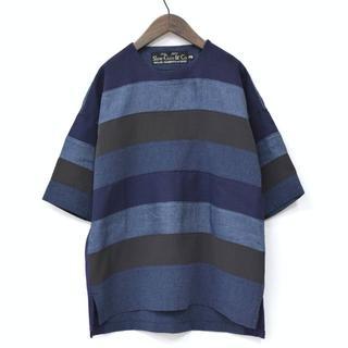 スロウガン(SlowGun)の17ss 美品 Slow Gun スロウガン パッチワーク 布帛 Tシャツ(Tシャツ/カットソー(半袖/袖なし))