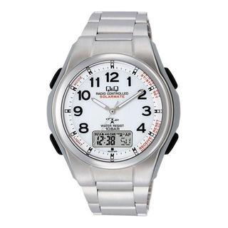 シチズン(CITIZEN)のMD08-204 Q&Q コンビネーション電波時計 ソーラー電源 メンズ(腕時計(アナログ))