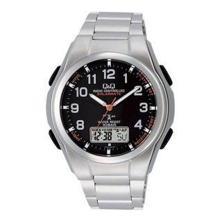 シチズン(CITIZEN)のMD08-205 Q&Q コンビネーション電波時計 ソーラー電源 メンズ(腕時計(アナログ))