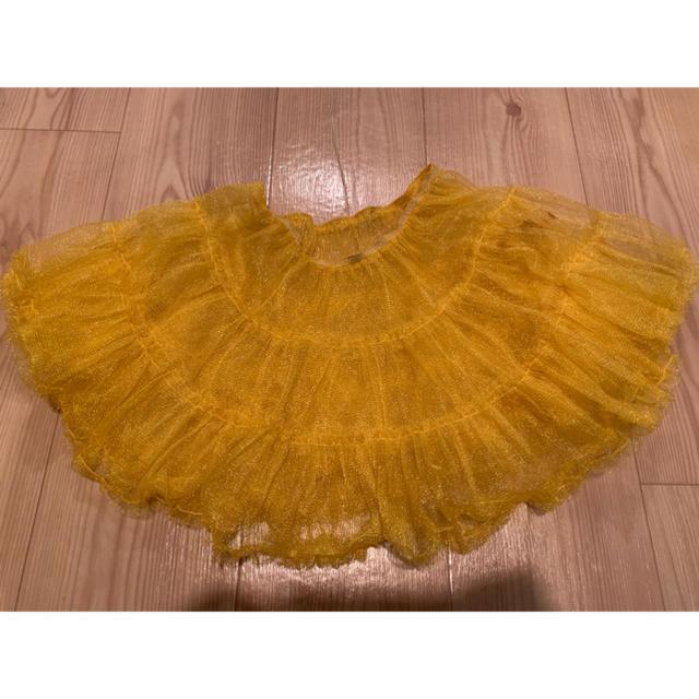 パニエ チュール スカート イエロー 黄色 衣装 エンタメ/ホビーのコスプレ(コスプレ用インナー)の商品写真