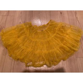 パニエ チュール スカート イエロー 黄色 衣装(コスプレ用インナー)