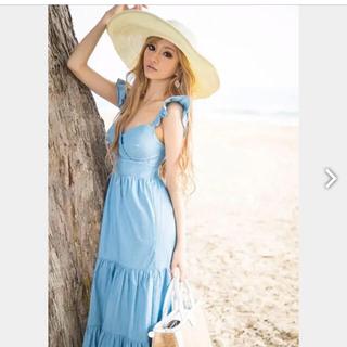 エミリアウィズ(EmiriaWiz)のエミリアウィズ完売💖美品麦わらハット帽子ストローハットホワイトフリーサイズ(ハット)