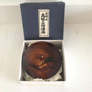 高級美術漆器☆天然木☆柿彫(漆芸)