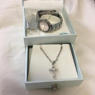 エンリココベリ(ENRICO COVERI)のエンリココベリ  腕時計 ネックレス セット ピンク ハート アクセサリー(腕時計)