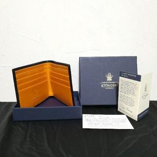 エッティンガー(ETTINGER)の未使用 ETTINGER エッティンガー 折財布 ネイビー(折り財布)