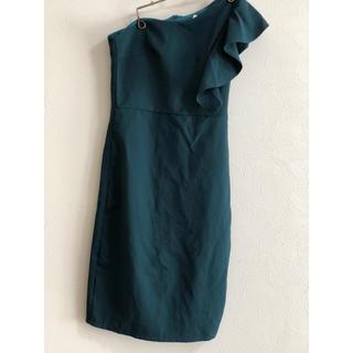 ザラ(ZARA)のドレス ワンショルダー(ミニドレス)