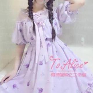 トゥアリス(To Alice)の〜19まで値引き 紫陽花 ワンピース(ひざ丈ワンピース)