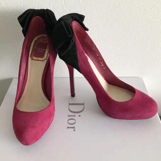 クリスチャンディオール(Christian Dior)のDior スエードリボンパンプス(ハイヒール/パンプス)