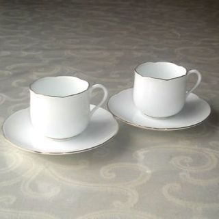 オオクラトウエン(大倉陶園)の美品♪ 2客大倉陶園色蒔デミタスカップ&ソーサー(グラス/カップ)
