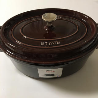 ストウブ(STAUB)の美品 廃盤色 STAUB ピコ ココット オーバル 27cm オーベルジン(鍋/フライパン)
