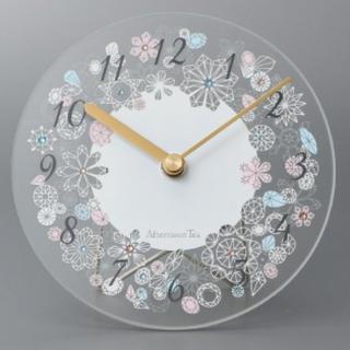 アフタヌーンティー(AfternoonTea)の値下げ 美品 AfternoonTea ガラス クロック(掛け置き時計)カラフル(置時計)