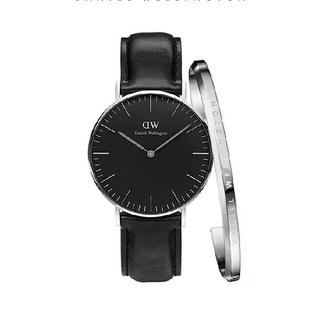 ダニエルウェリントン(Daniel Wellington)の大人気 ブブラック40MM ダニエルウェリントン 腕時計とバングル セット(腕時計(アナログ))