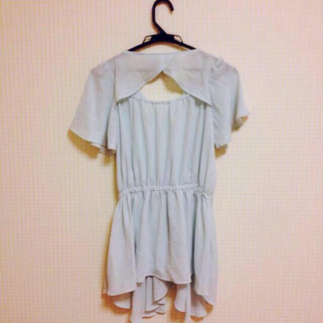 mysty woman(ミスティウーマン)のmysty woman シフォンTシャツ レディースのトップス(Tシャツ(半袖/袖なし))の商品写真